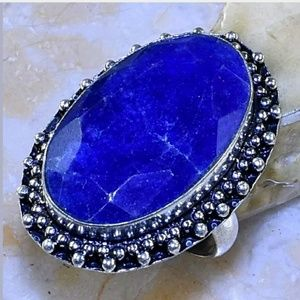 Sapphire Handmade .925 Ring Size 8
